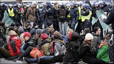 Copenhagen Protests and Arrests