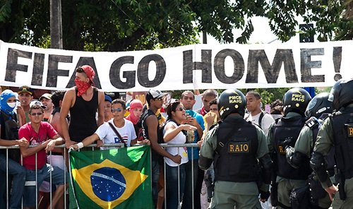 FIFA Go Home, Mega-Protest in Brazil