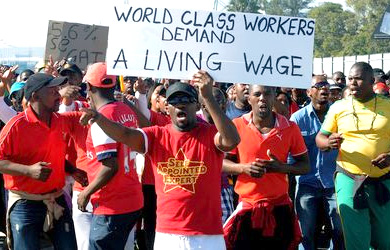 World Class workers demand a living wage