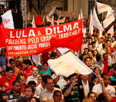 Dilma supporters protest