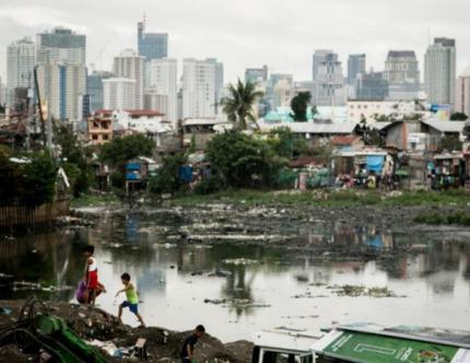 Tondo slum in Manila, Philippines.