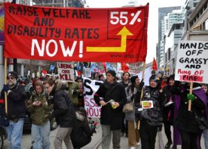 Raise Welfare Rates protest in Toronto.