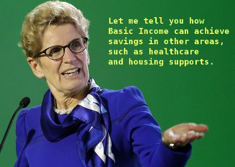 Let me tell you how Basic Income can achieve savings in other areas, such as healthcare and housing supports.