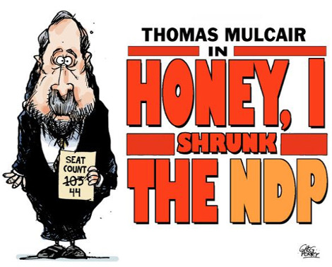 Honey, I shrunk the NDP.