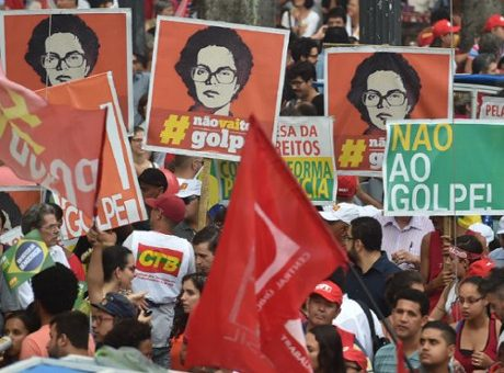 NO to the coup in Brazil.