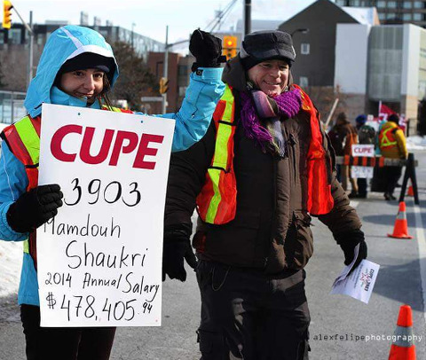 CUPE 3903 on Strike. Photo by Alex Felipe.