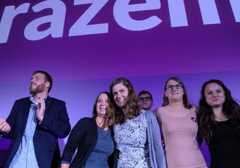 Razem activists.