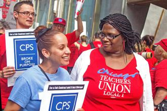 CTU members protest