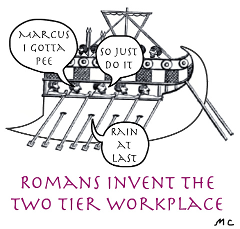 Romans invent the two-tier