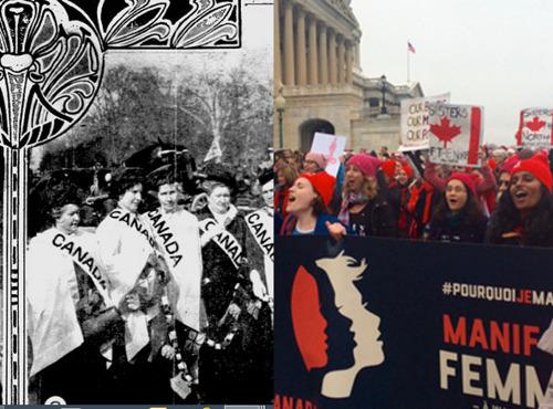 Canadian Women Marching in Washington: 1913 - 2017