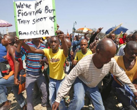 South African Workers Protest