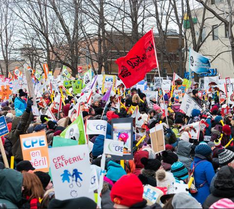 Rassemblement pour la sauvegarde des CPE / Québec solidaire on Flickr