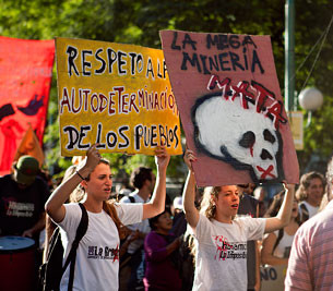 Anti-mining protest