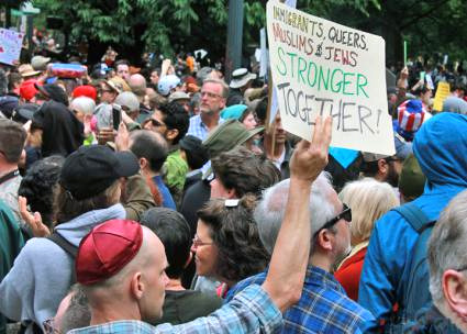 Immigrants, Queers, Muslims and Jews Stronger Together