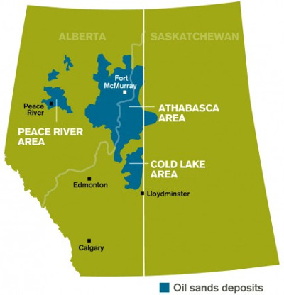 Oil Sands deposits in Alberta