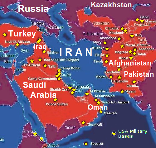 USA Military Bases in the Middle East
