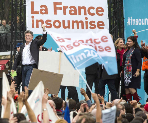 Image result for la france insoumise tricolore