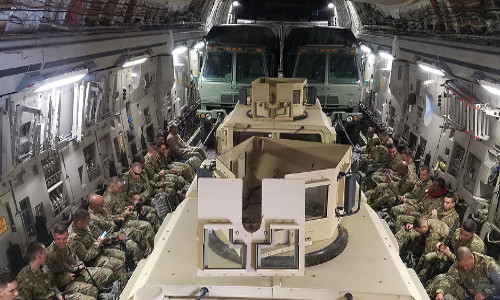 """U.S. troops flying to Afghanistan"