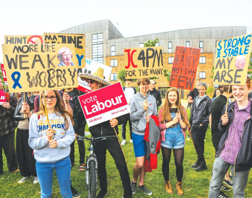 Young Labour supporters