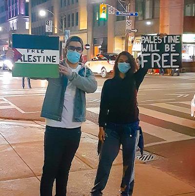Demonstrators in Toronto